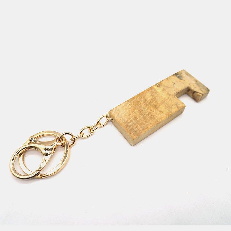 手機架 鑰匙圈 原木 Epoxy - 樹瘤