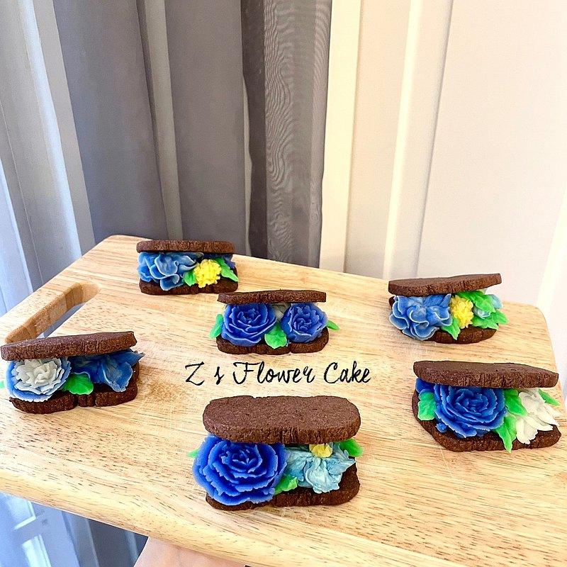 韓式裱花-法式花朵夾心餅乾