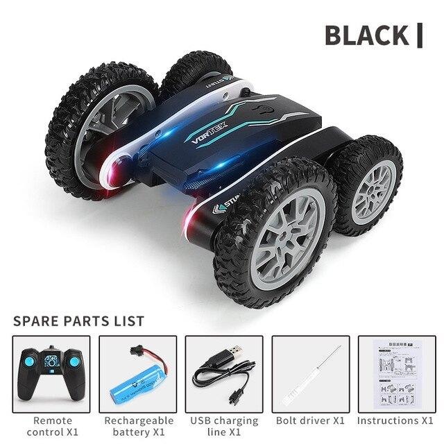 變形車翻鬥兒童玩具車兒童玩具 兒童遙控車 電動遙控車 益智玩具 旋轉特技車雙面車充電遙控車