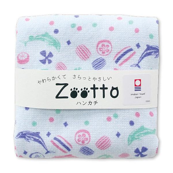 【日本製】【Zootto】日本製 今治毛巾動物系列 手帕巾 糖果海豚圖案(一組:10個) SD-4075-10 - 日本製
