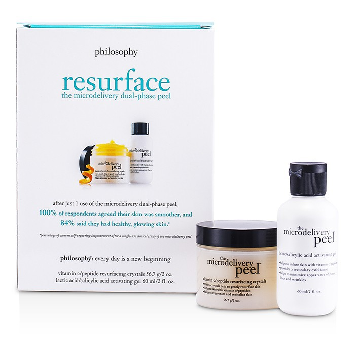 肌膚哲理 - 微晶煥膚組合: 乳酸/水楊酸 活膚凝膠 + 維生素 C 更生瑩露