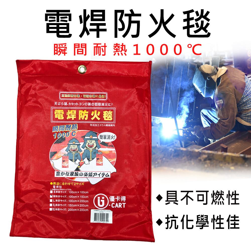 優卡得 滅火毯 防火墊 玻璃纖維 消防安檢 隔熱毯 野餐防護墊(s)