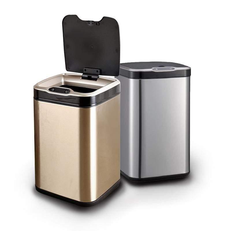 不鏽鋼除臭感應垃圾桶 ELPH6311U 銀色