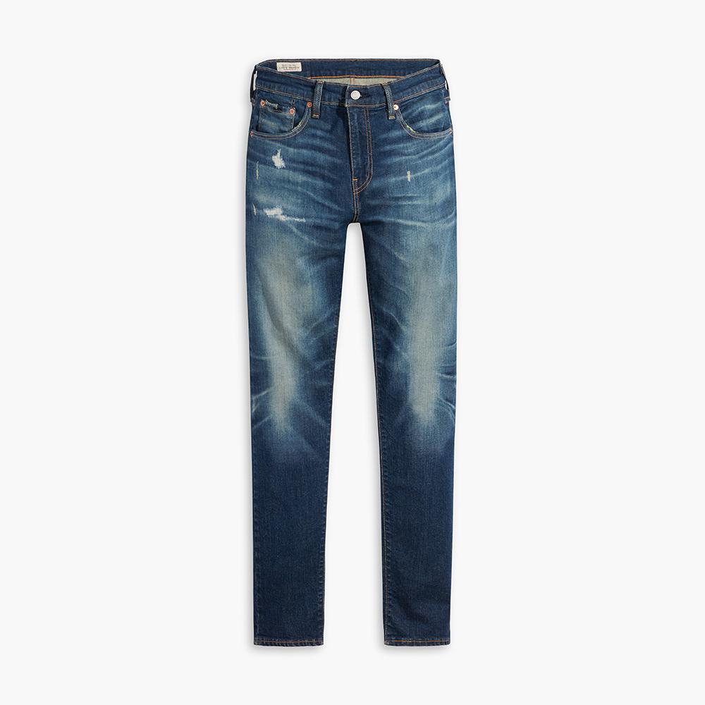 Levis 男款 上寬下窄 512 低腰修身窄管牛仔褲 / 精工微磨損補丁細節 / 彈性布料-人氣新品