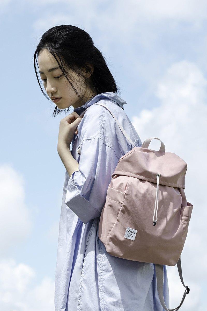 hellolulu CELESTE 繩扣休閒後背包(S) - 淡粉紅
