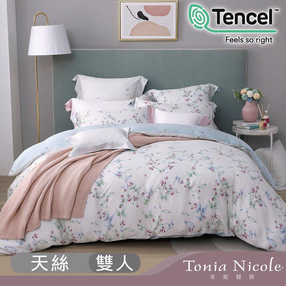 (活動)【Tonia Nicole 東妮寢飾】西西里果園環保印染100%萊賽爾天絲被套床包組(雙人)
