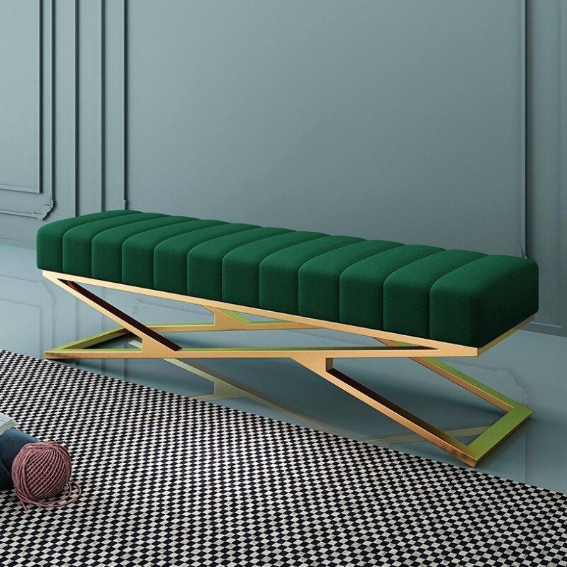 床尾凳 輕奢床尾凳臥室試衣間衣帽間穿鞋凳換鞋凳網紅床前凳現代簡約長凳
