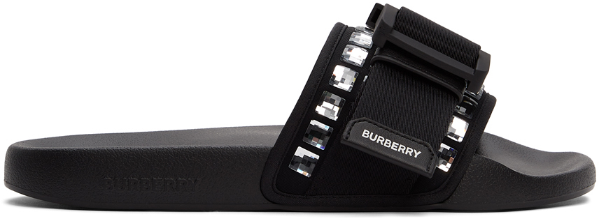 Burberry 黑色 Crystal Cameron 拖鞋