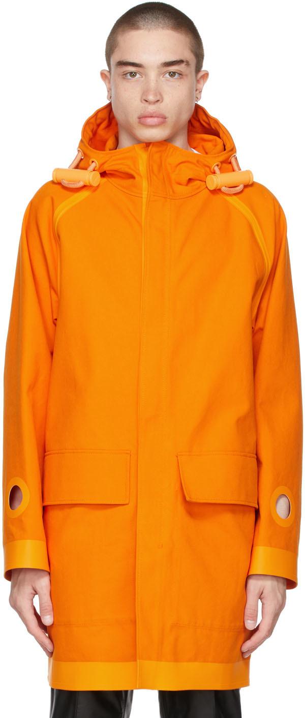 Burberry 橙色 Cut-Out Detail 大衣
