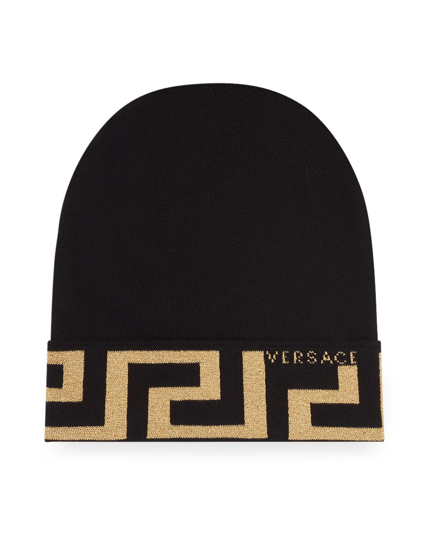 Greca Knit Beanie Hat