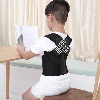 駝背背部學生駝背預防帶小孩男女脊椎坐姿糾正衣透氣四款