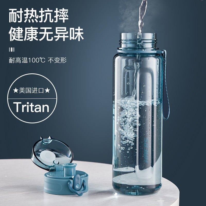 哈爾斯tritan塑料水杯男女學生ins高顏值超大容量運動防摔太空杯【艾莎嚴選】