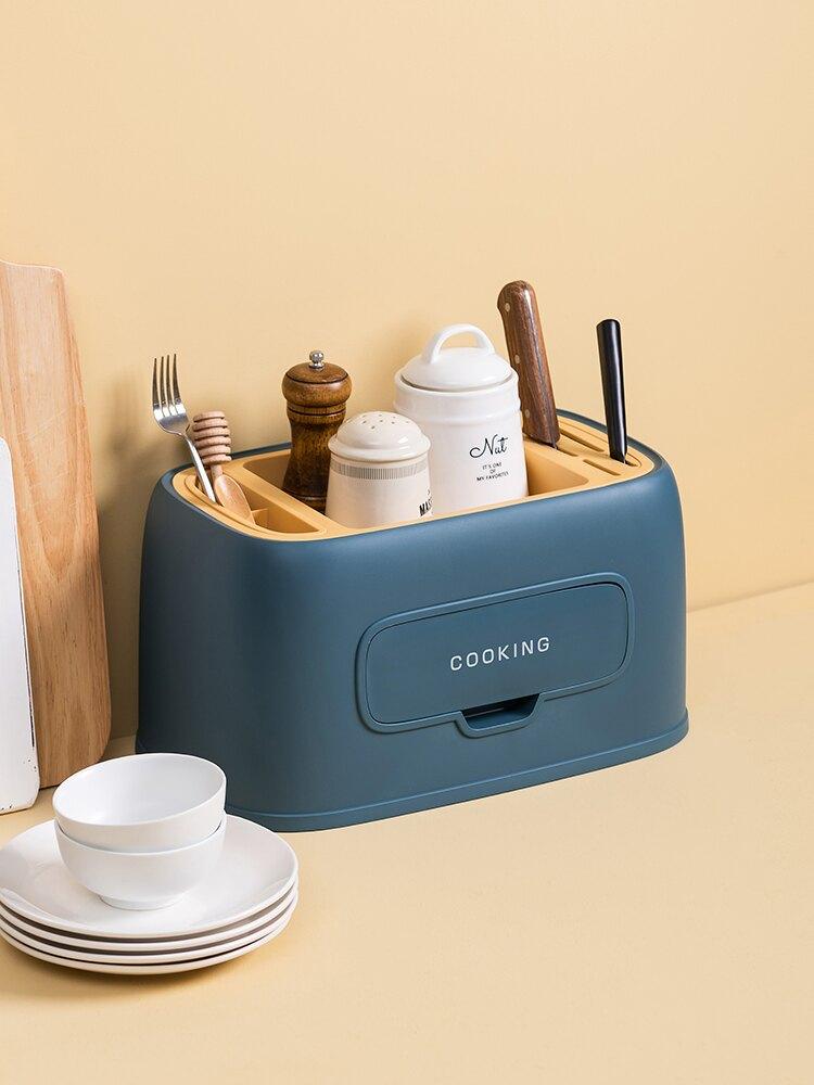 多功能廚房置物架 北歐省空間調料架刀架家用筷架 調味瓶罐收納架