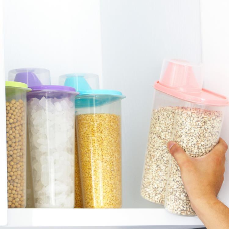 廚房家用米桶儲米箱防潮防蟲密封罐五谷雜糧收納盒大號塑料瓶子【免運】