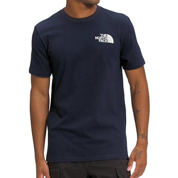 The North Face 男Hiker 正面/背面圖形圓領T恤衫(深藍色)