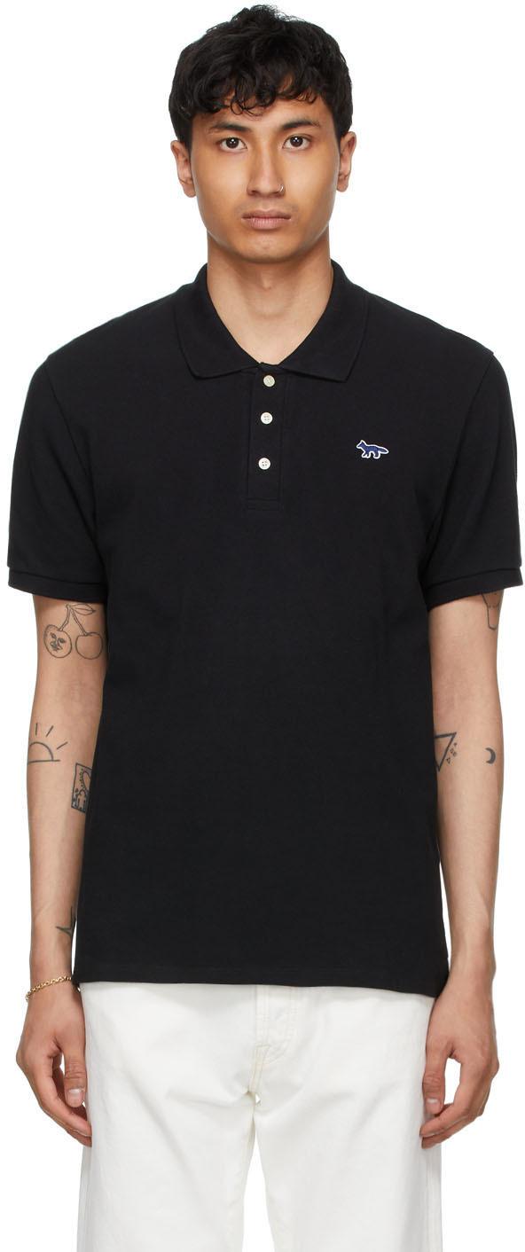 Maison Kitsuné 黑色 Fox Patch Classic Polo 衫