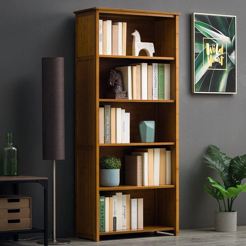 免運 簡易書架書櫃置物架 多層落地中式儲物收納架子 客廳復古書櫃 居家收納櫃收納架G872