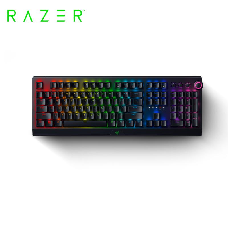 雷蛇黑寡婦V3 Pro綠軸機械RGB電競鍵盤
