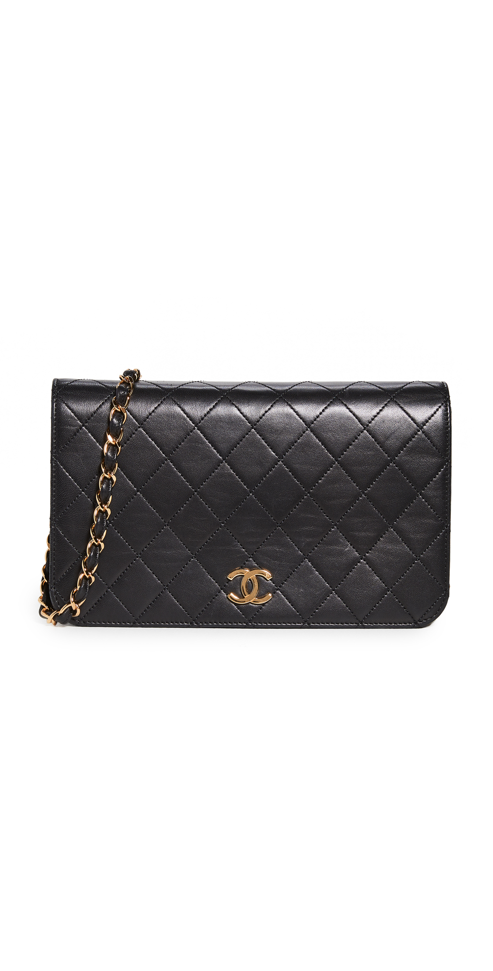 What Goes Around Comes Around Chanel Black Snap Full Flap Bag