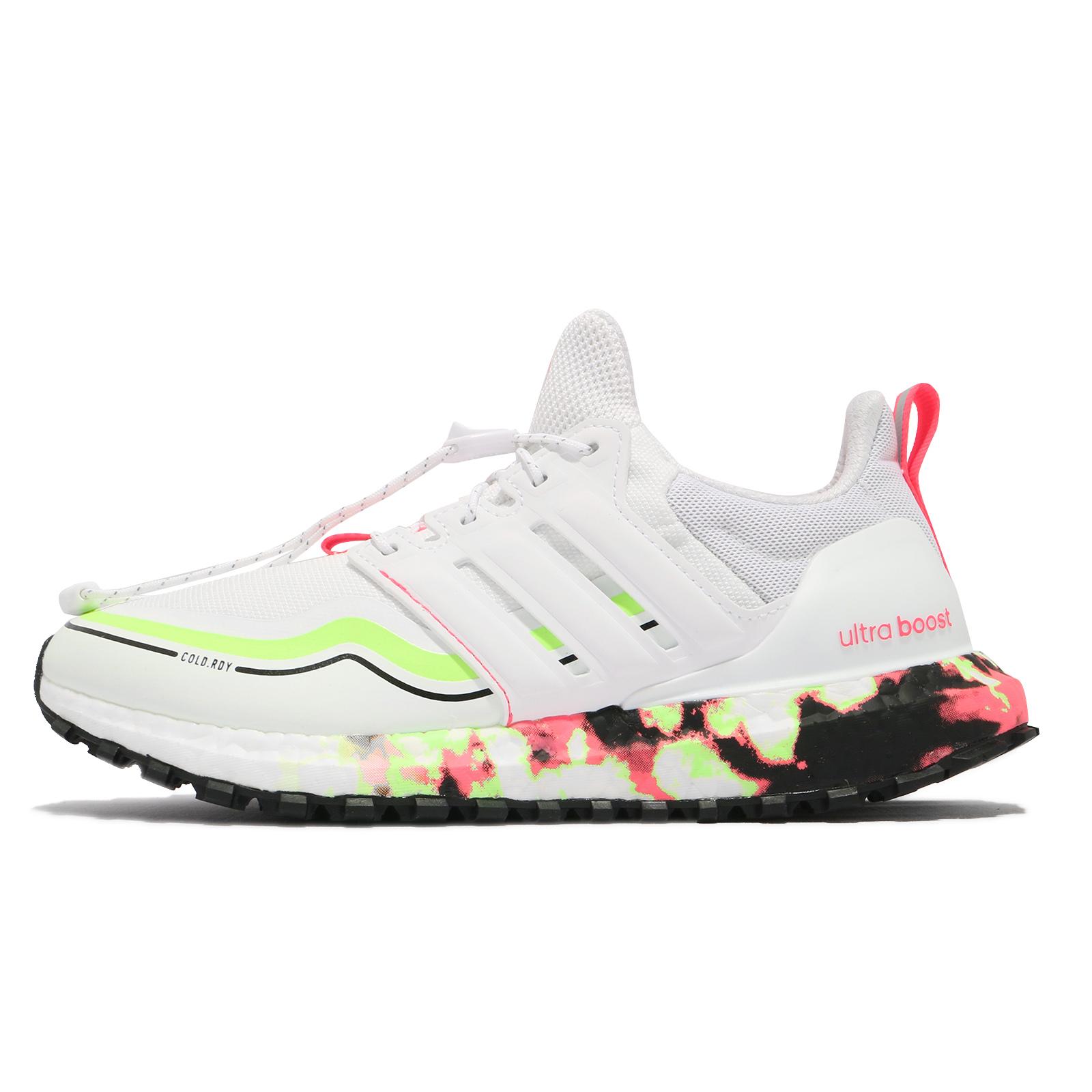 adidas 慢跑鞋 Ultraboost C.RDY DNA 白 粉紅 螢光綠 愛迪達 女鞋【ACS】 FV7017