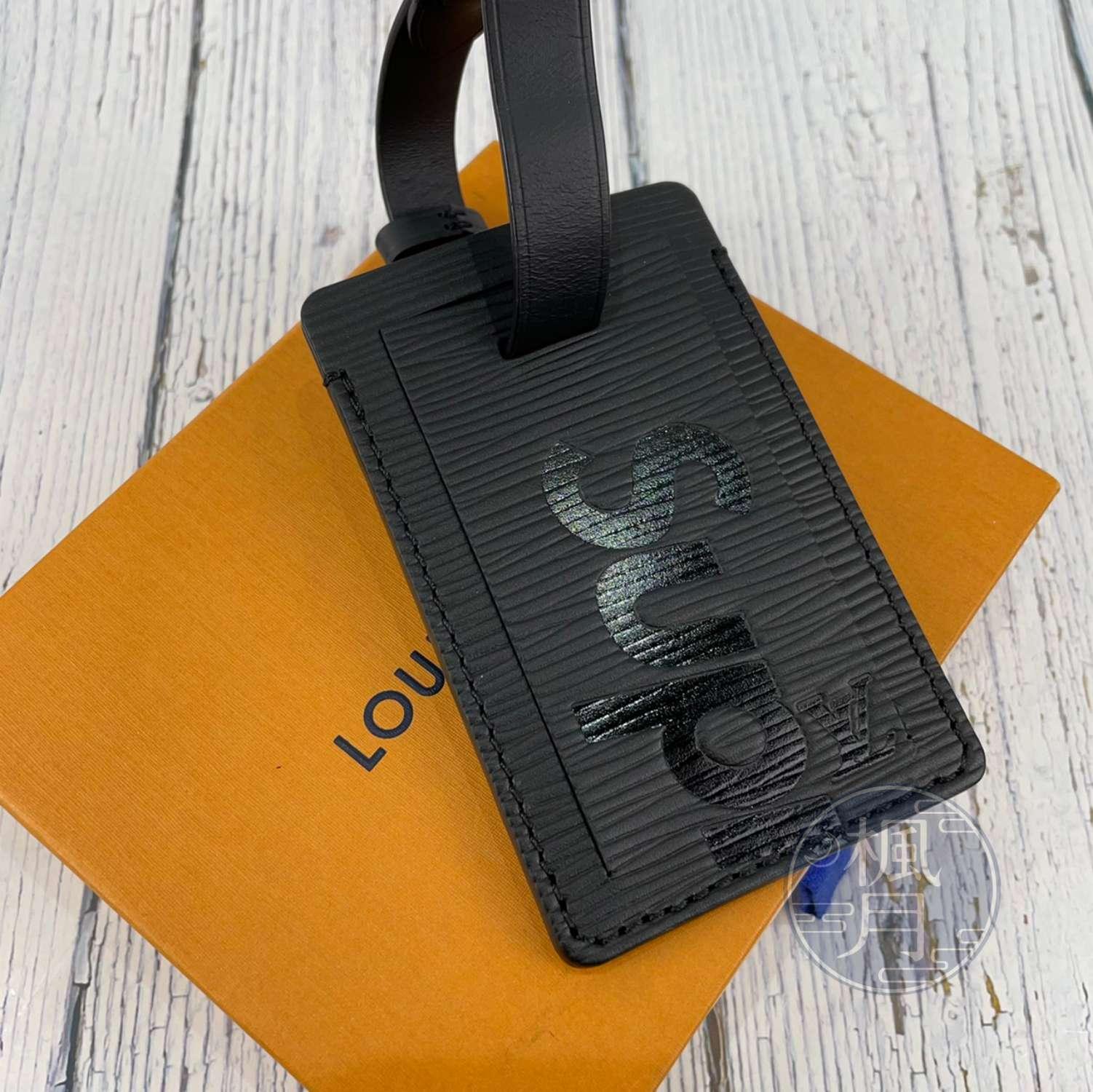 BRAND楓月 LOUIS VUITTON 路易威登 LV M67726 黑吊牌 SUPREME聯名 行李吊牌 名片放置