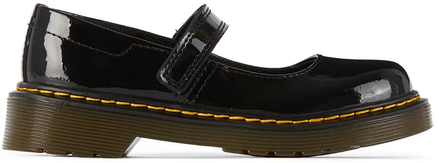 Dr. Martens 黑色 Maccy 儿童玛丽珍鞋