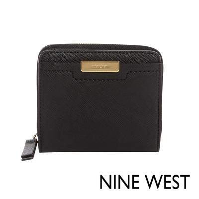NINE WEST KENNEDY3卡拉鍊短夾-黑色(106837)