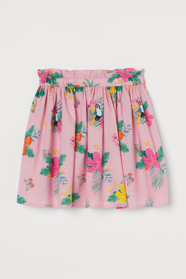 H & M - 棉質印花裙 - 粉紅色