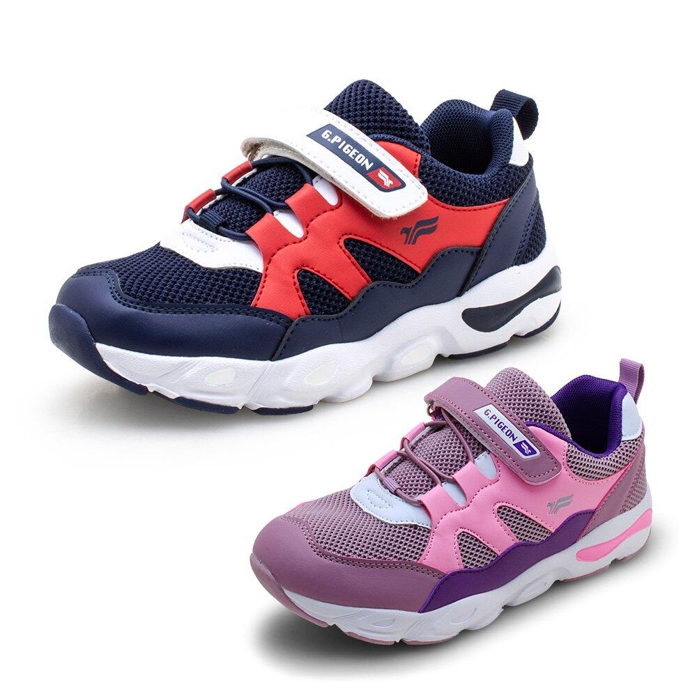 GP 兒童飛織透氣舒適休閒鞋P6934B-藍色/粉色(SIZE:32-37 共二色) G.P