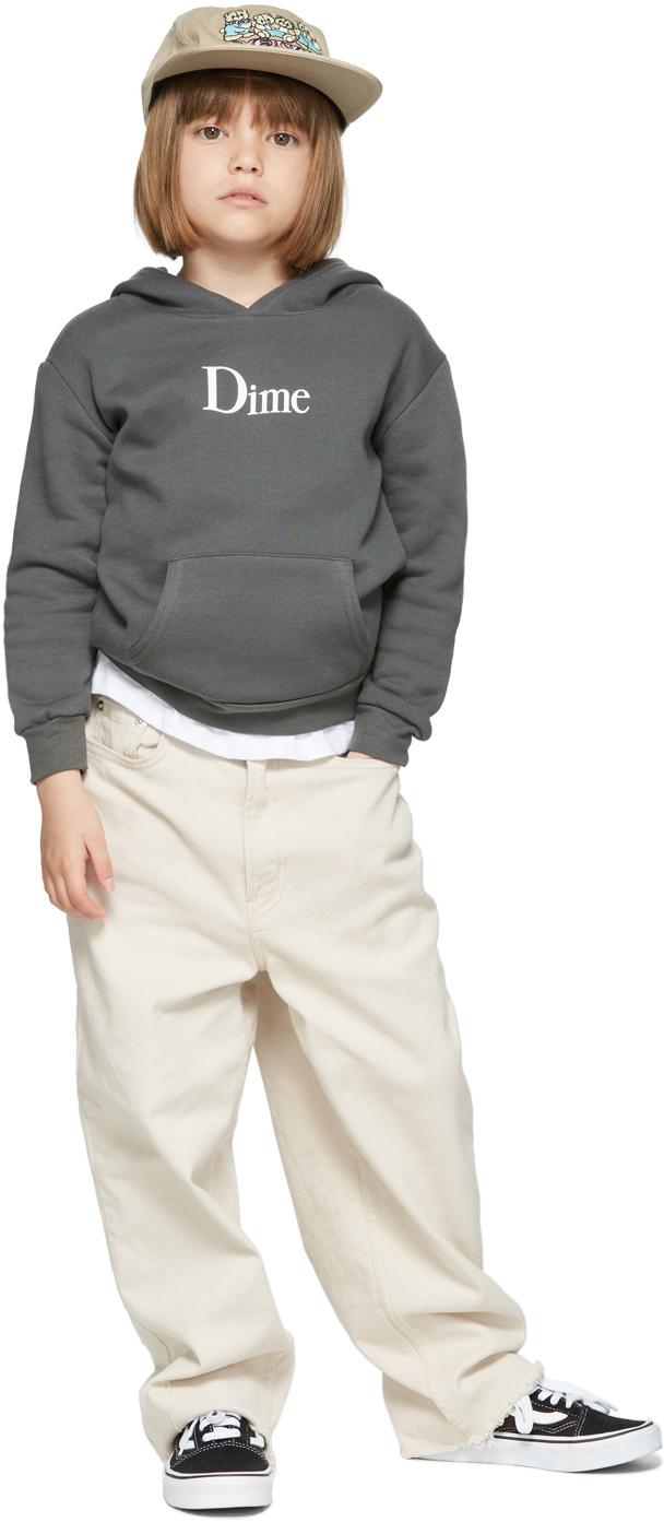 Dime SSENSE 独家发售灰色 Classic 儿童连帽衫