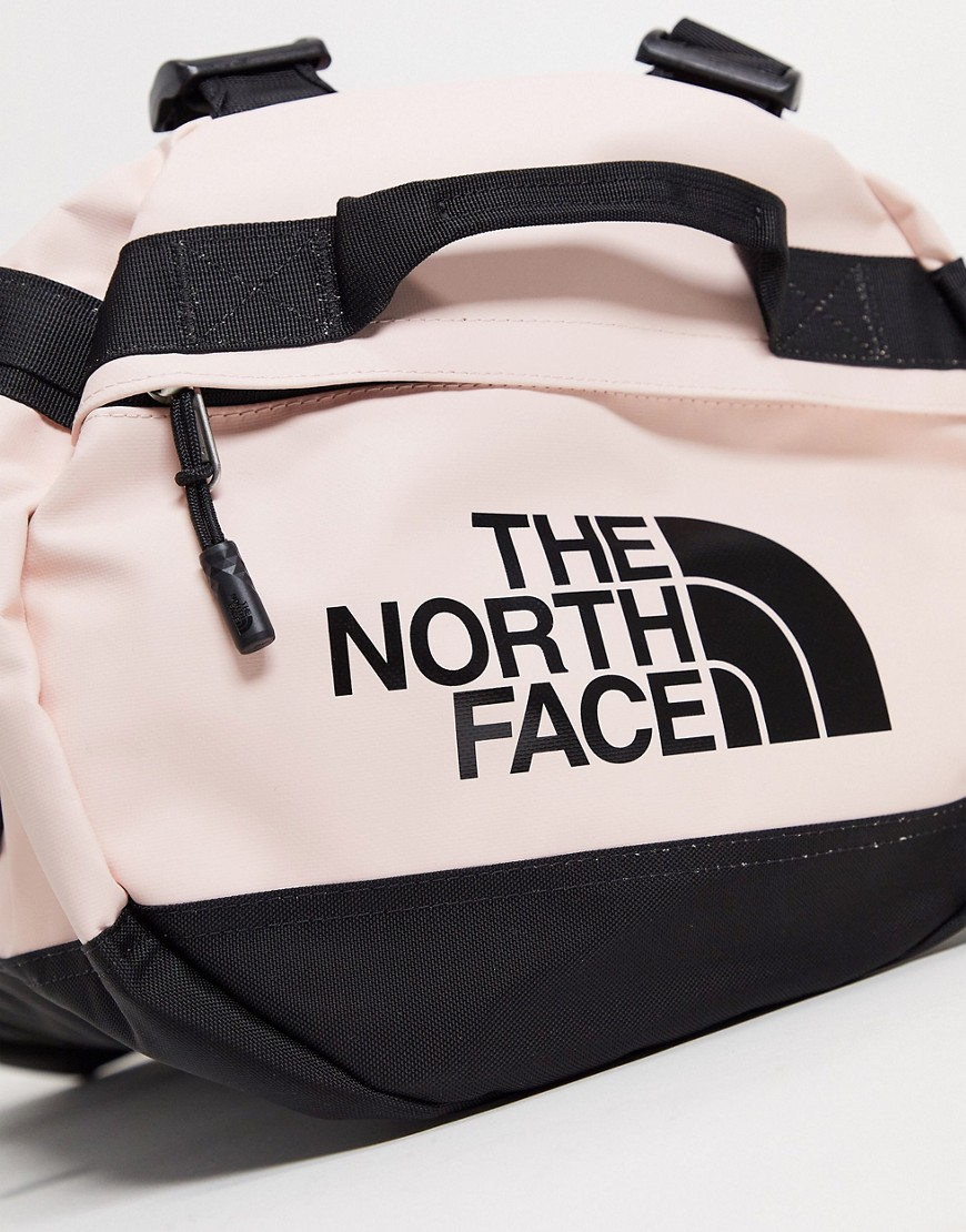The North Face Base Camp small 50L duffel bag in pink