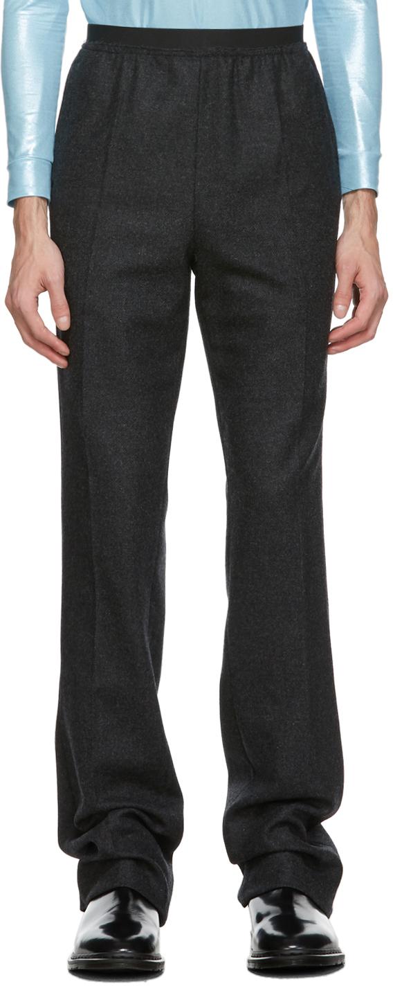 Raf Simons 灰色 Elastic 羊毛长裤