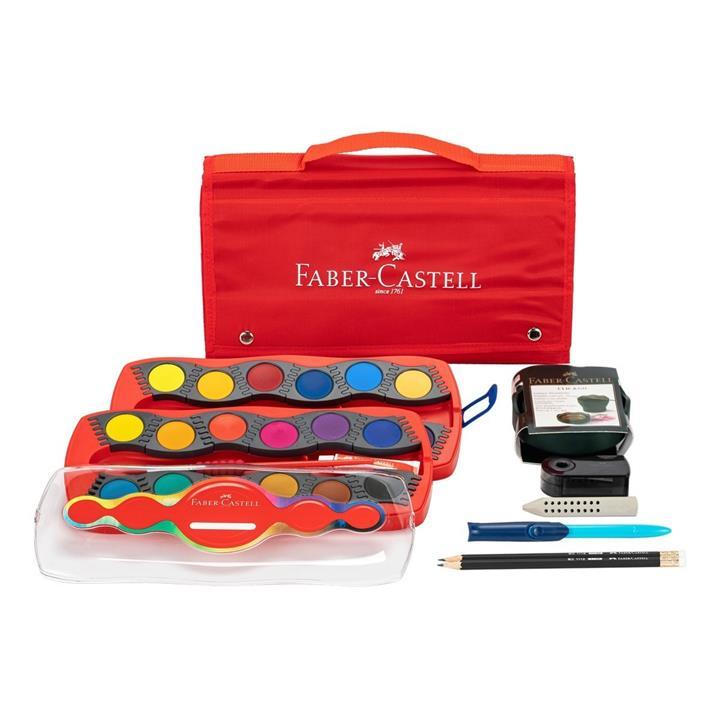 Faber-Castell  輝柏24 色水彩旅行手提組