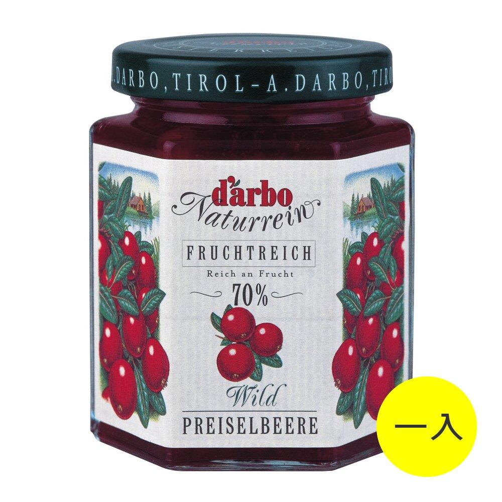 任選【Darbo】德寶70%果肉天然蔓越莓果醬 200g (一入)