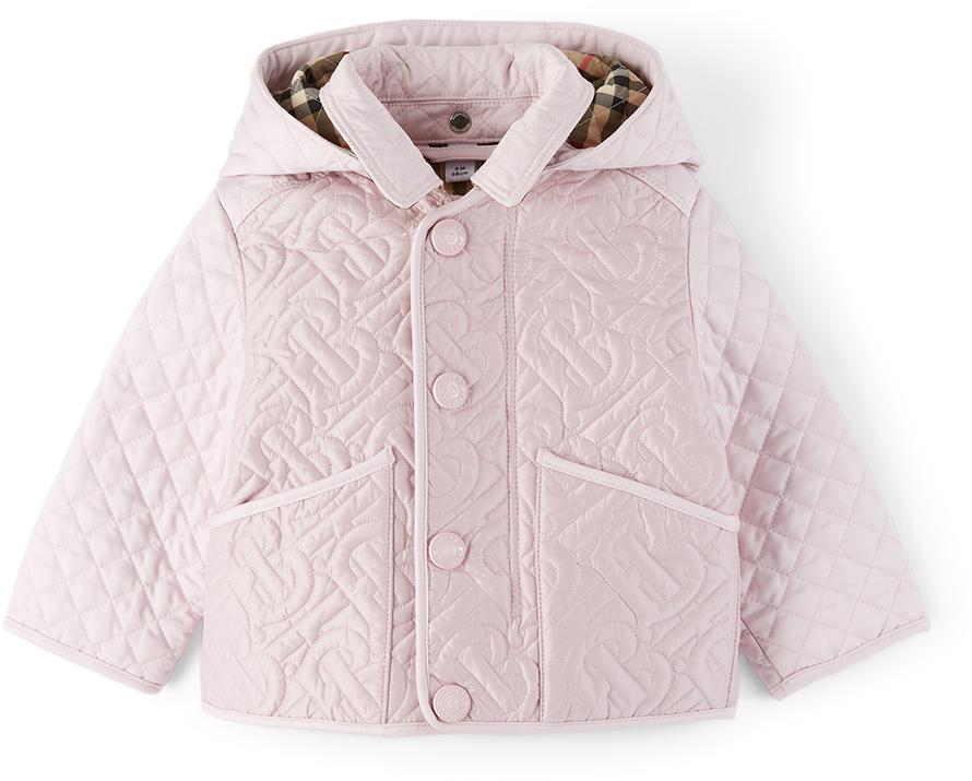 Burberry 粉色 Monogram 绗缝婴儿夹克