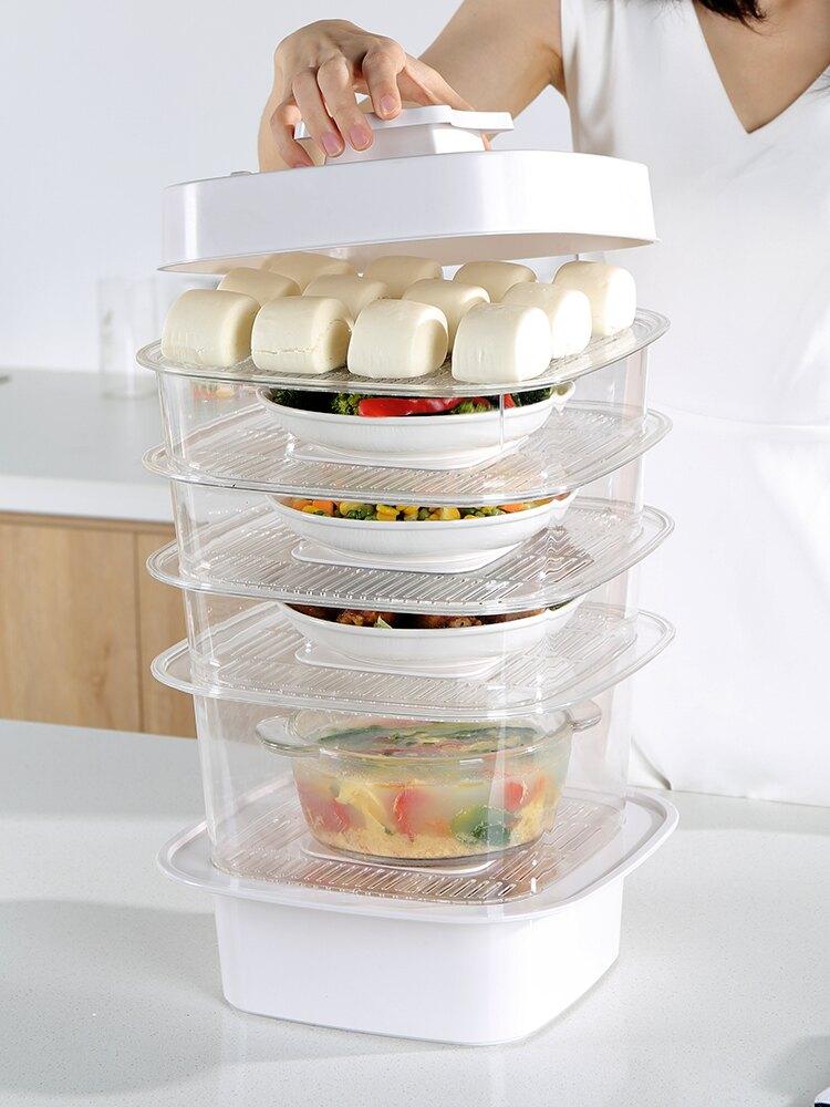 家用多層重疊飯保溫罩冬天防塵餐桌菜罩子食物剩菜剩飯神器保鮮蓋