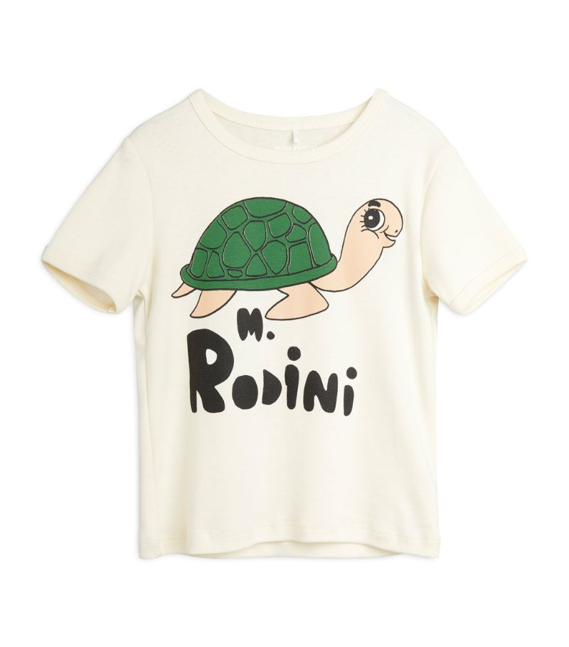 Mini Rodini Turtle Logo T-Shirt (18 Months-11 Years)