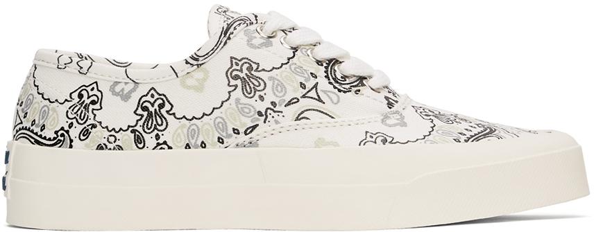 Maison Kitsuné 白色 Bandana Print 运动鞋