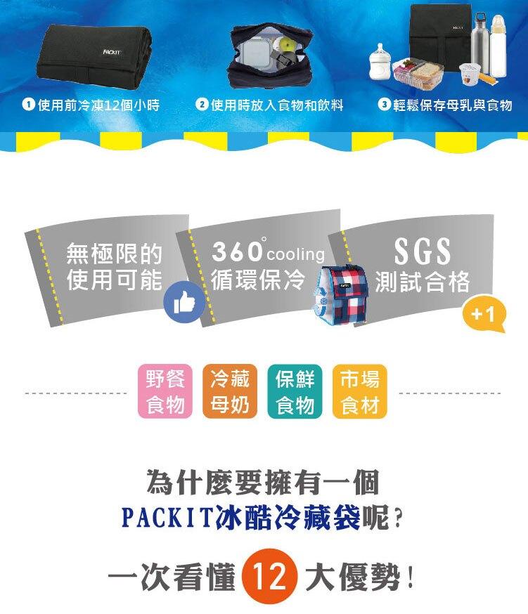 (2021) 美國 PACKiT 冰酷 輕巧冷藏肩背包 (熱帶扶桑) 5.7L 保冷袋 保冰袋 母乳袋 行動式摺疊冰箱