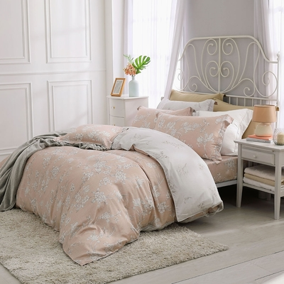 鴻宇 雙人特大床包兩用被套組 天絲300織 蜜爾娜 台灣製