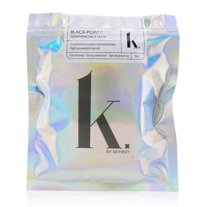 SKINKEY - K. Series 黑色-石墨烯面膜-持久效果,強貼臉度和美白肌膚