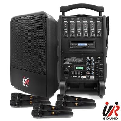 UR SOUND 六頻藍芽/CD/USB/SD移動式無線擴音機(鋰電)PA9260CDNBL