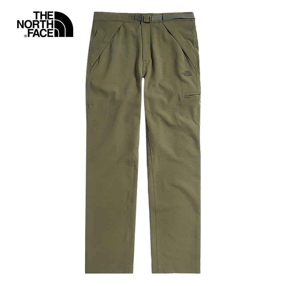 The North Face北面UE男款綠色防潑水調節腰帶休閒褲|49CM7D6
