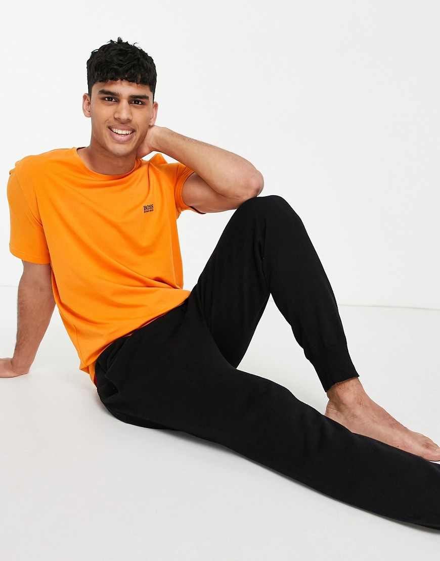 BOSS Bodywear t-shirt in orange