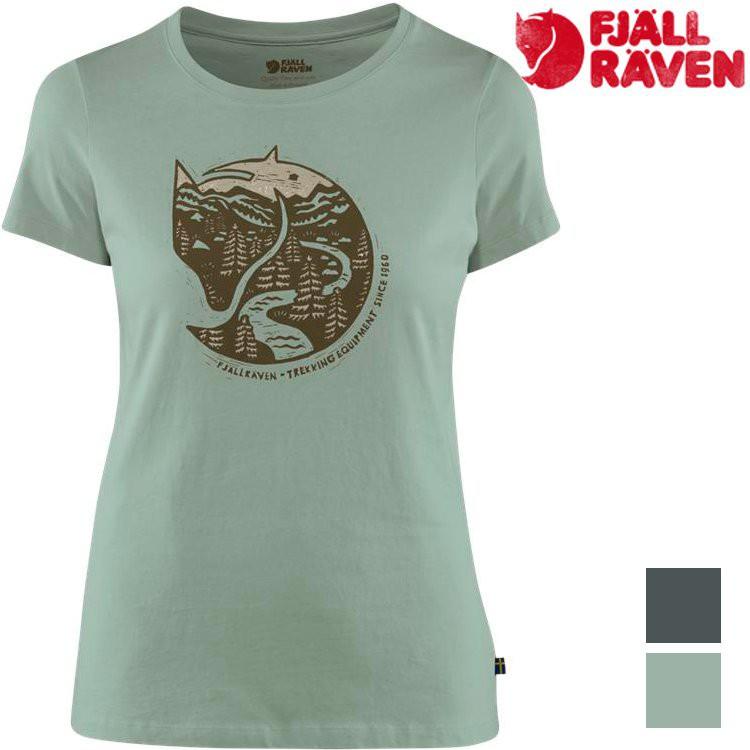 Fjallraven 瑞典北極狐 Arctic Fox Print 女款有-機棉短袖T恤 89849