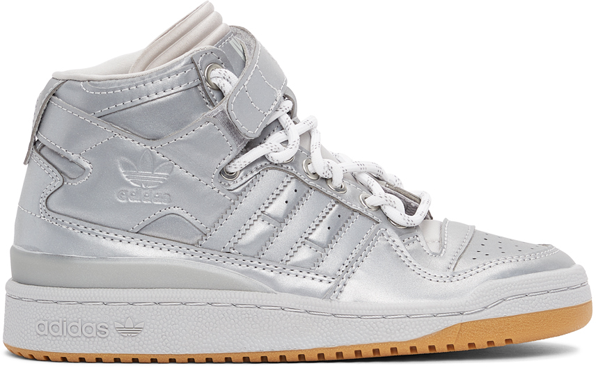 adidas x IVY PARK 银色 Forum Mid 高帮运动鞋