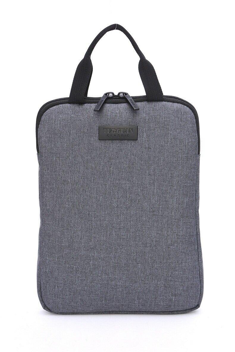 新款毛氈腦包手提ipad商務包防水耐磨帆布男士高檔公文包