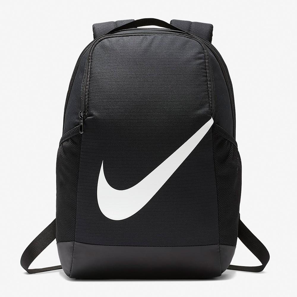 Nike Y Brsla Bkpk - FA19 黑白 運動 休閒 大LOGO 後背包 BA6029-010