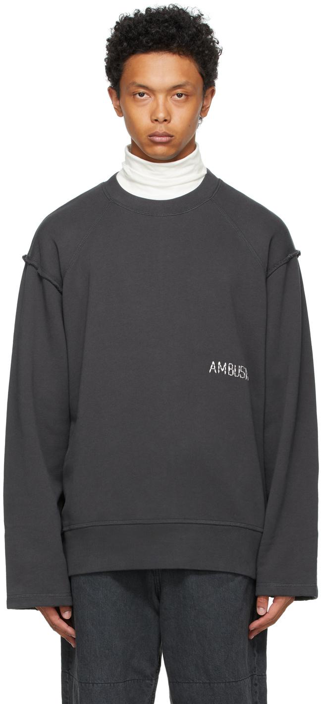 Ambush 灰色 Raw Edge 套头衫