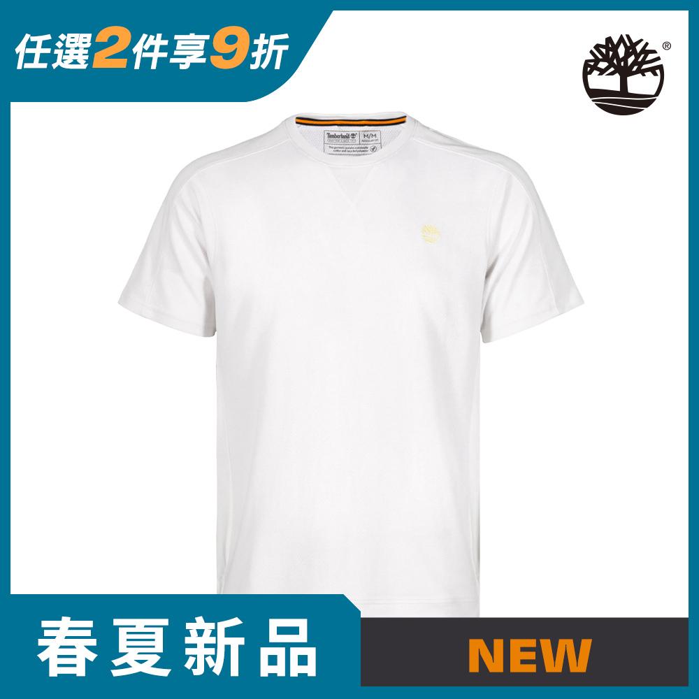 Timberland 男款白色TIMBECOOL有機棉吸濕排汗短袖T恤|A2E3X100